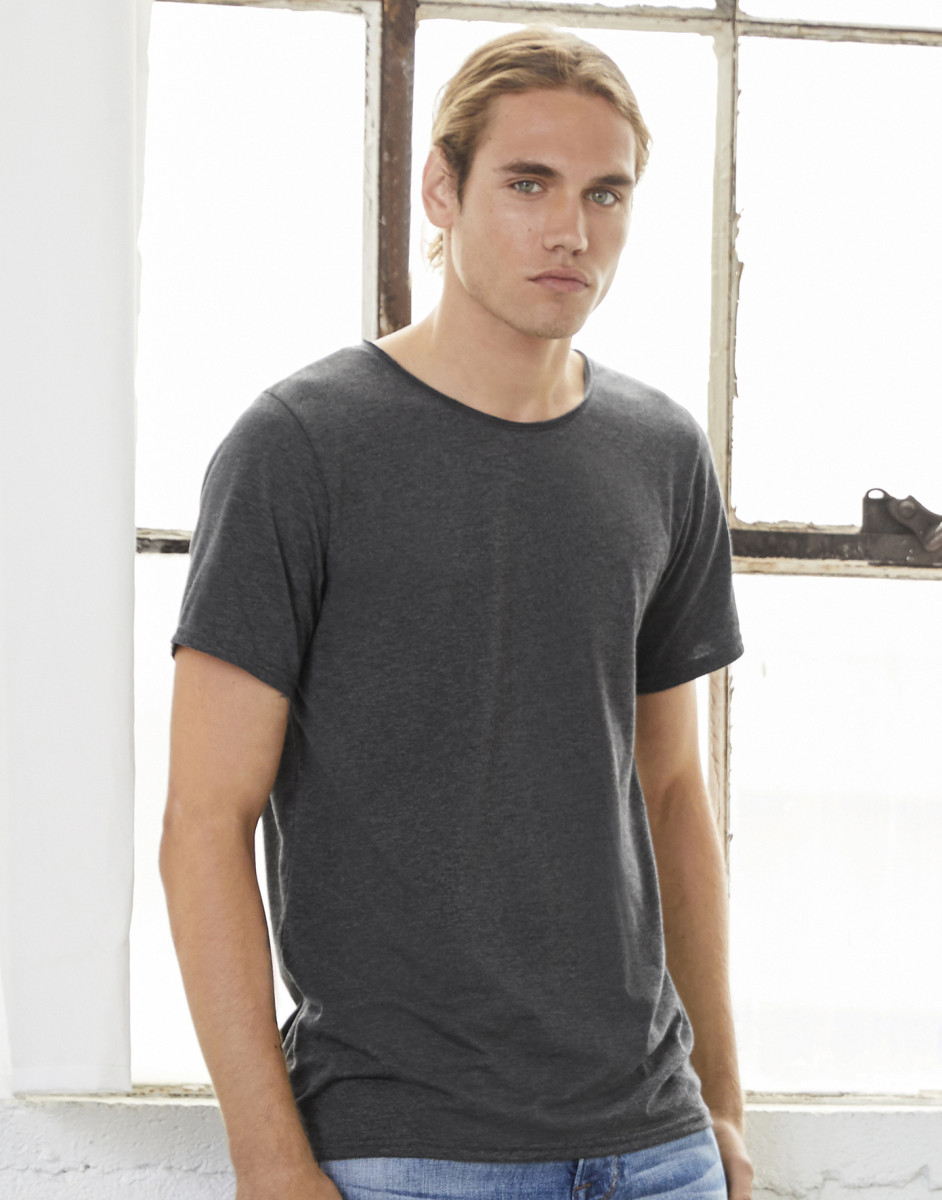 Canvas Mens Jersey Raw Neck Tee