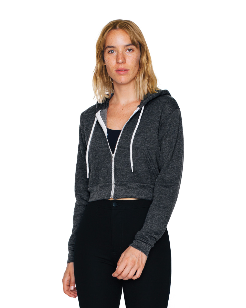 American Apparel Womens Zip Crop Hoodie