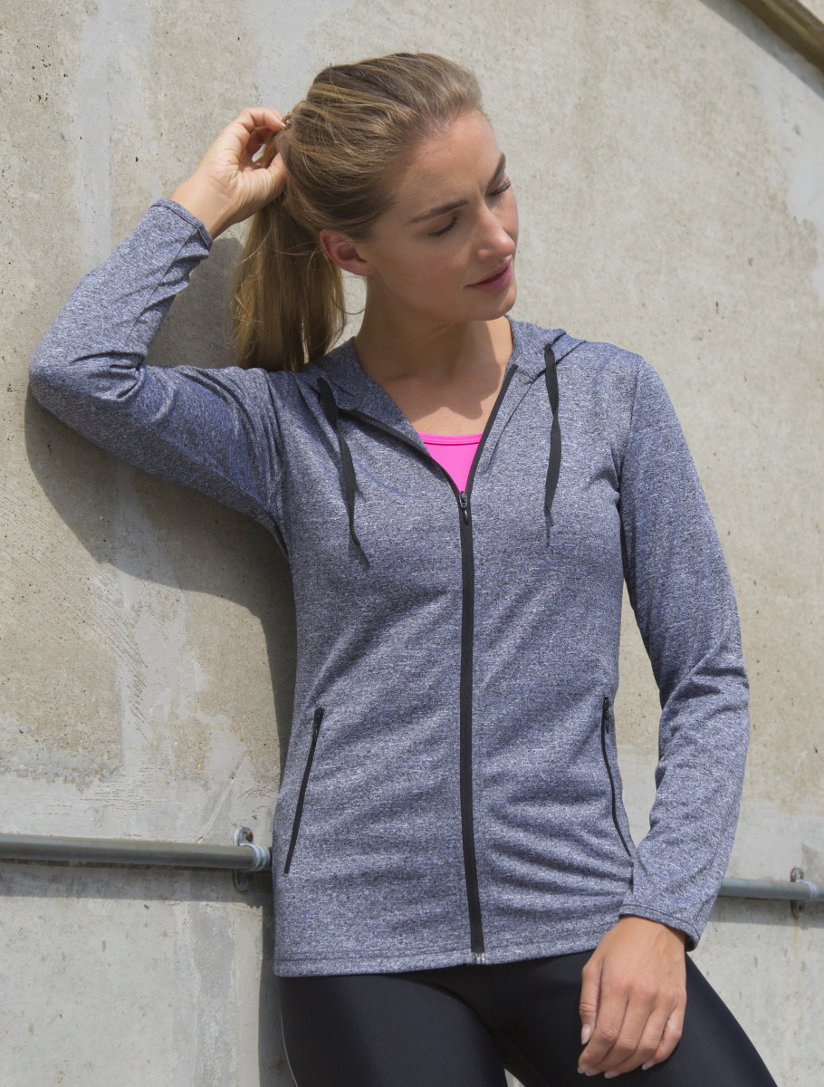 Spiro Fitness Womens Hooded Tee-Jacket