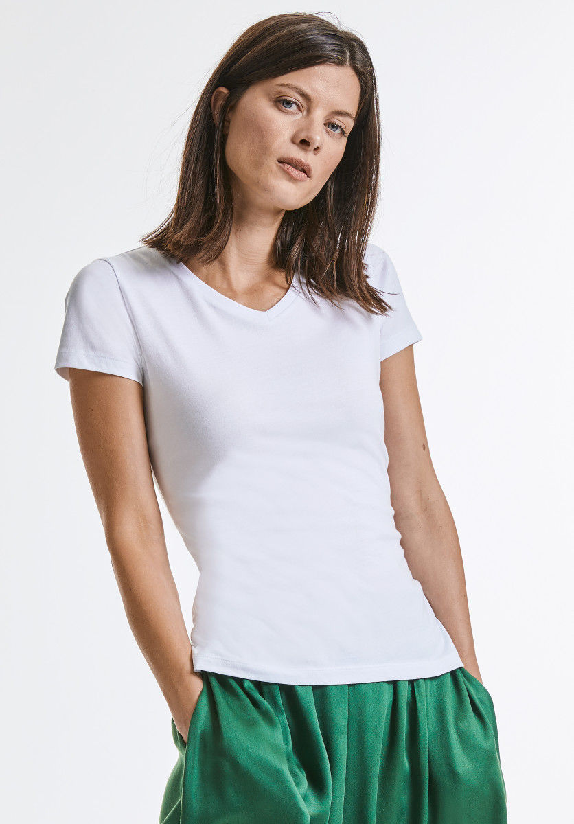 Russell Ladies Pure Organic V-Neck Tee