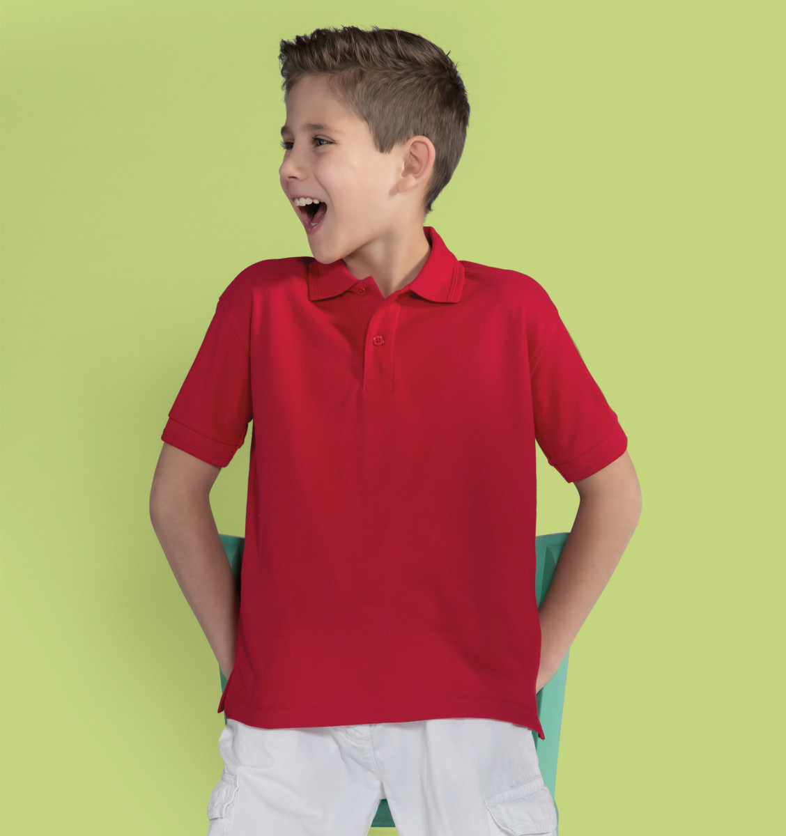 Kids Unisex Top Jerzees Schoolgear Children/'s Classic Polycotton Polo