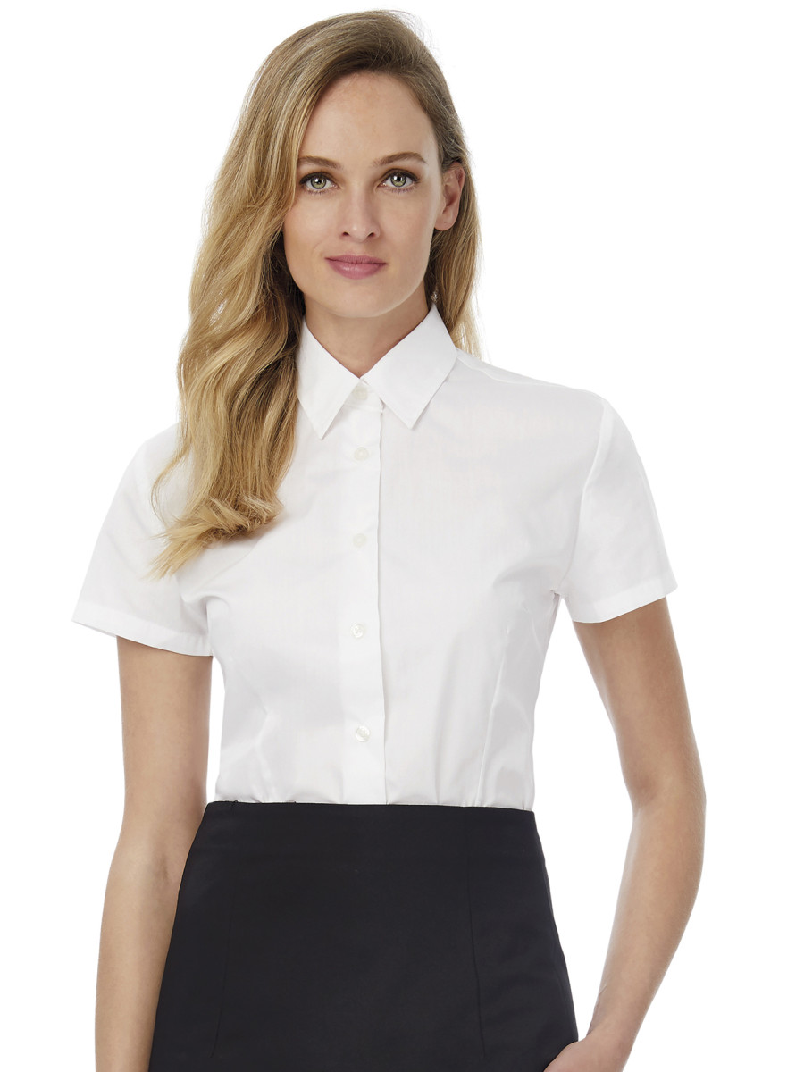 Ladies' Smart Short Sleeve Poplin Shirt