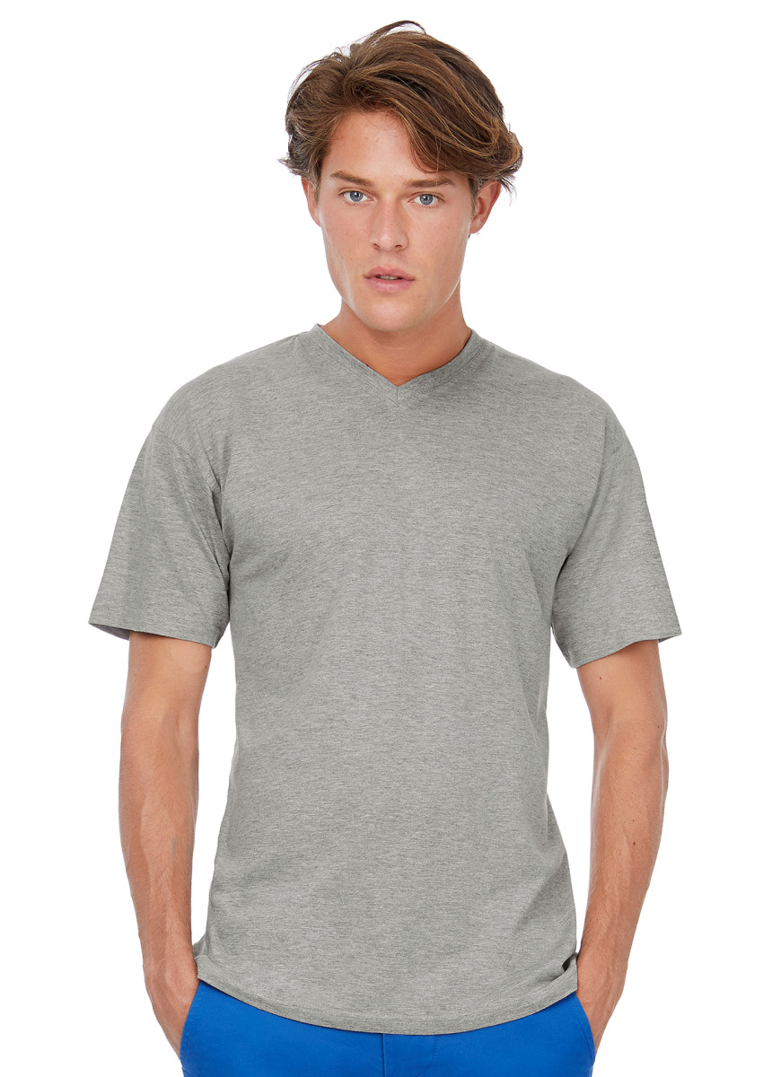 B&C Men's Exact V-Neck T-Shirt
